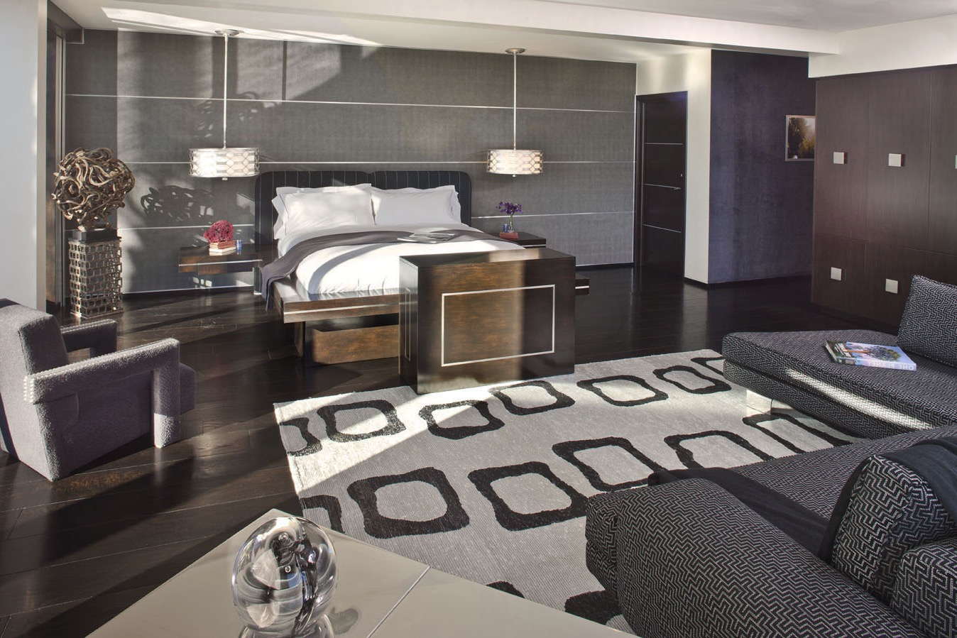 Contemporary Master Apartment Bedroom Interior Luxury Design (Image 7 of 28)