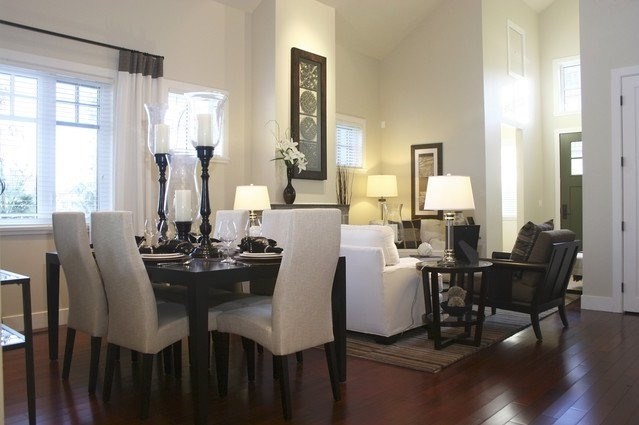 Elegance Living Room And Dining Room In One Room (Image 17 of 34)