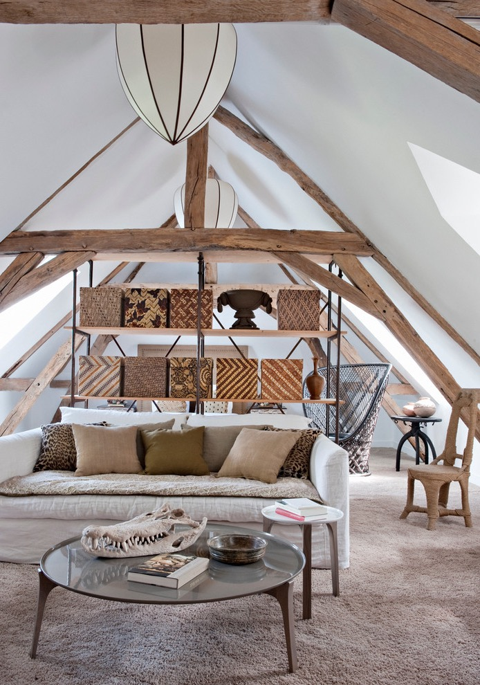 Farmhouse Attic Living Room Decoration (View 13 of 26)