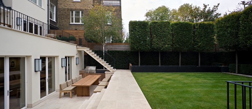 Large Contemporary Backyard Formal Garden (Image 29 of 35)