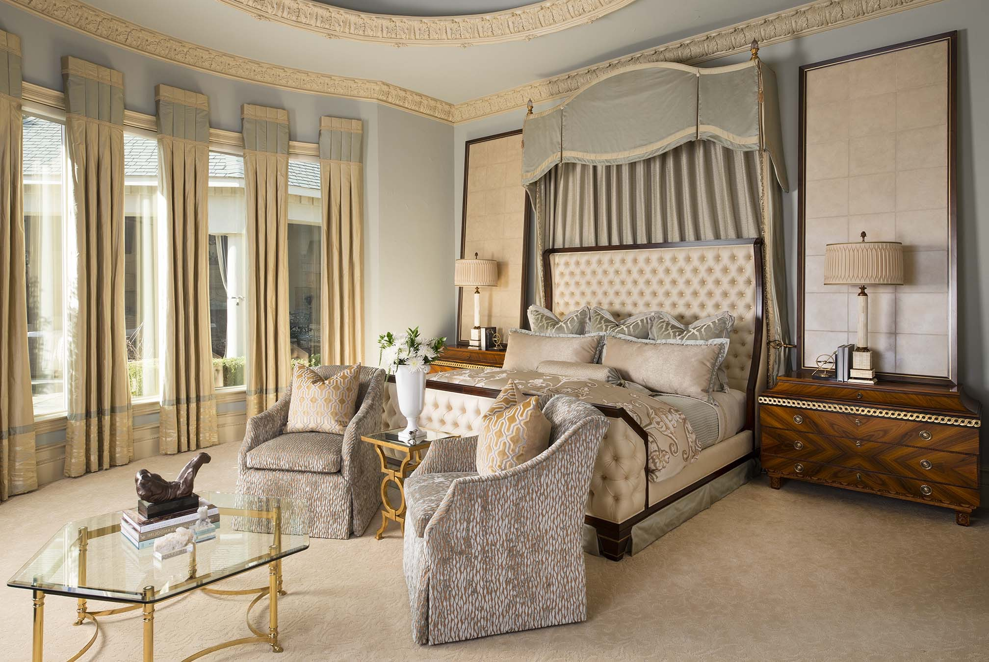 Luxury Victorian Master Bedroom With Seating Area (Image 4 of 19)