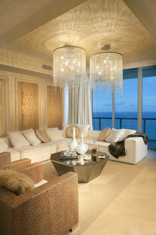Luxury Crystal Double Chandeliers Lighting For Living Room (Image 11 of 18)