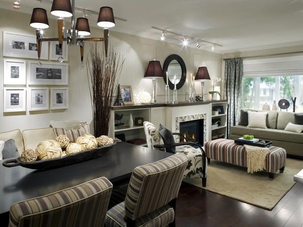 Masculine Living Room And Dining Room In One Room (Image 25 of 34)