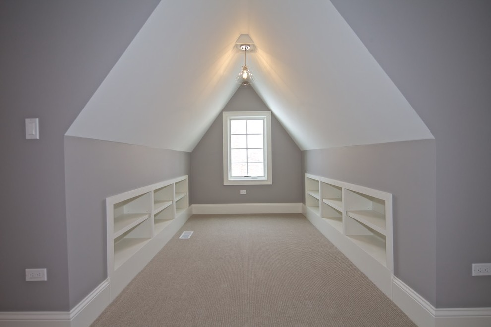 Modern Attic Room Wall Color Ana Remodel (Image 17 of 26)