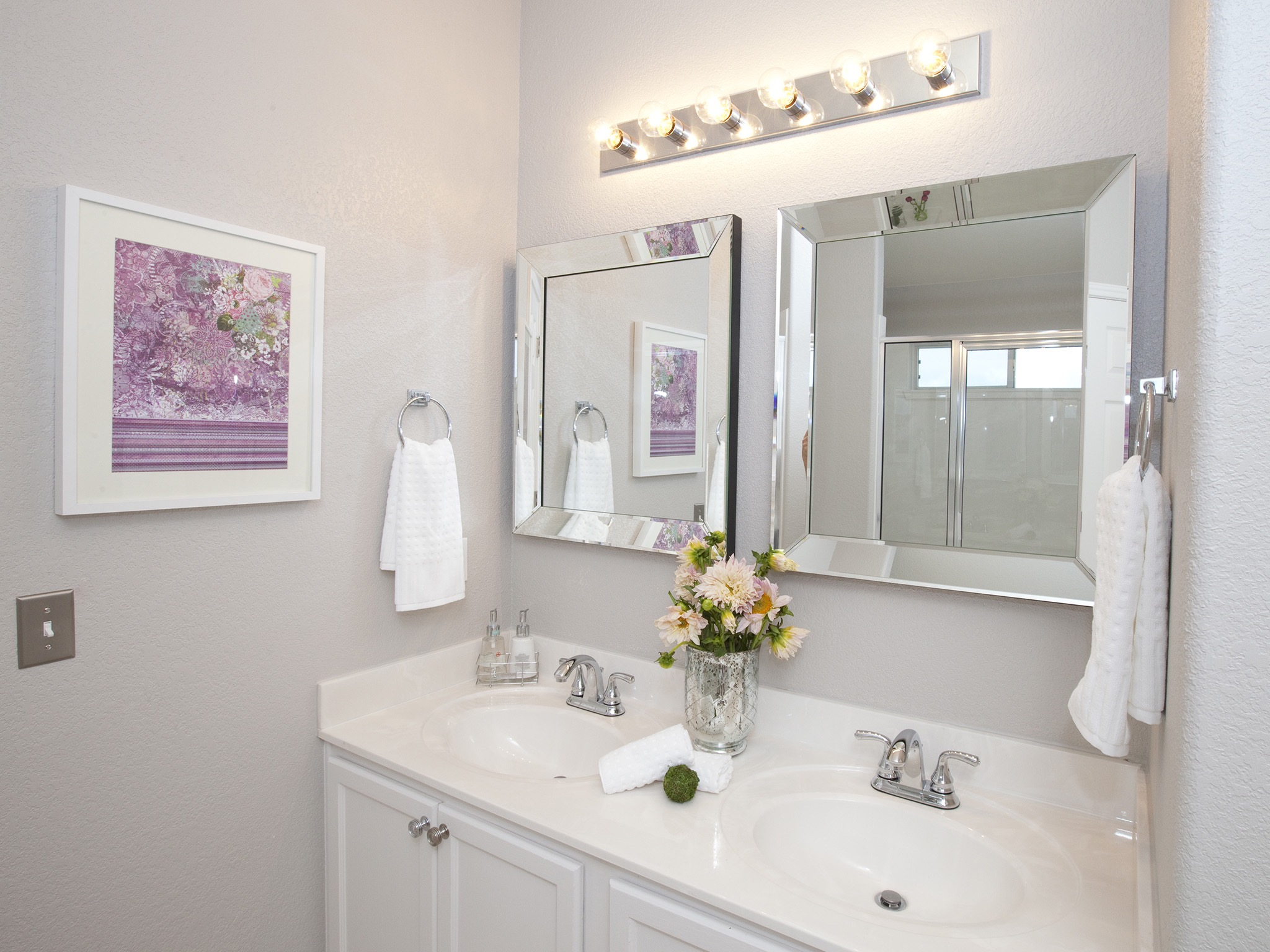Modern Bathroom Accessories With Chrome Light Fixture And Faucets (Image 8 of 14)