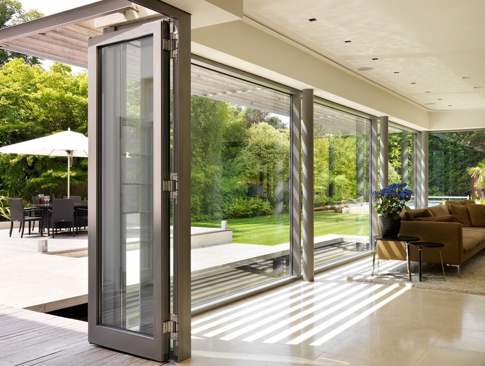 Beautiful bifold doors for functional and efficient interior 14974 interior ideas - Modern home luxury doors ...