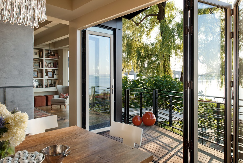 Modern Bifold Doors For Contemporary Living Room (Photo 10 of 24)