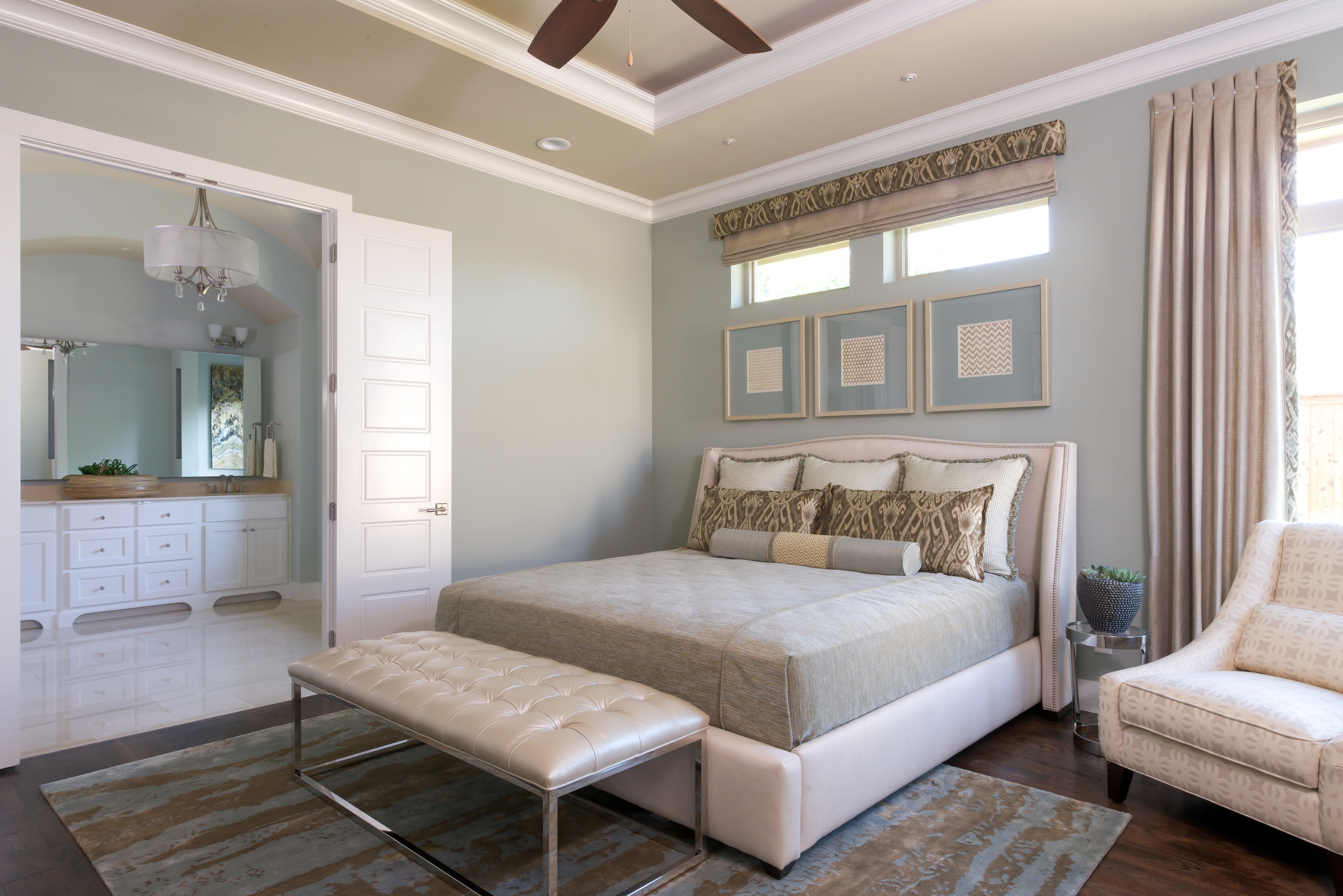 Modern Classic Master Bedroom With Bathroom Interior (Image 22 of 28)