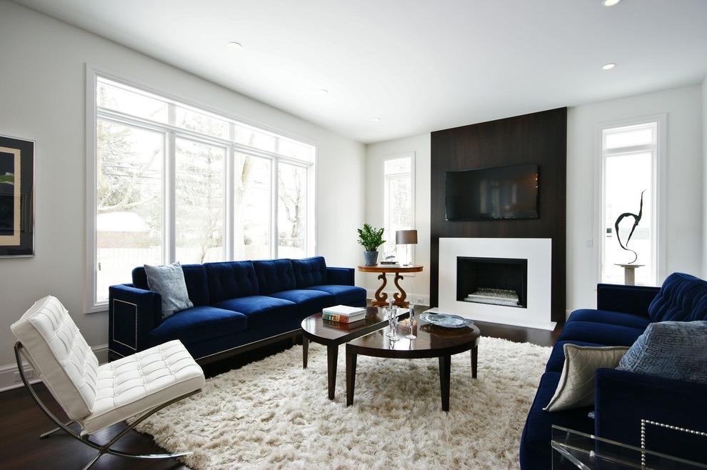 Popular Contemporary Blue Sofa For Modern Living Room (Image 24 of 25)