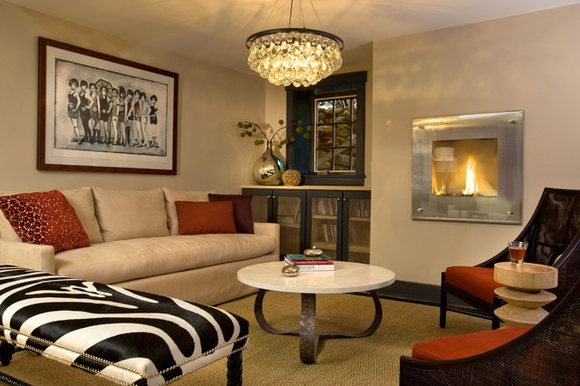 Popular Living Room With Modern Sofa And Fireplace (Image 26 of 28)