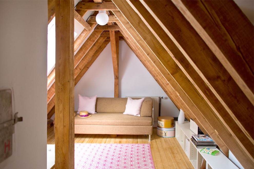 Scandinavian Style Attic Living Room Decoration (View 19 of 26)