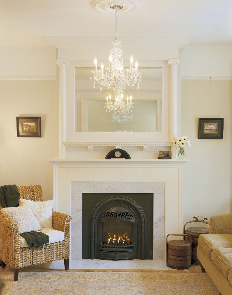 Small Victorian Living Room With Small Fireplace Insert And Mantel (Image 24 of 28)