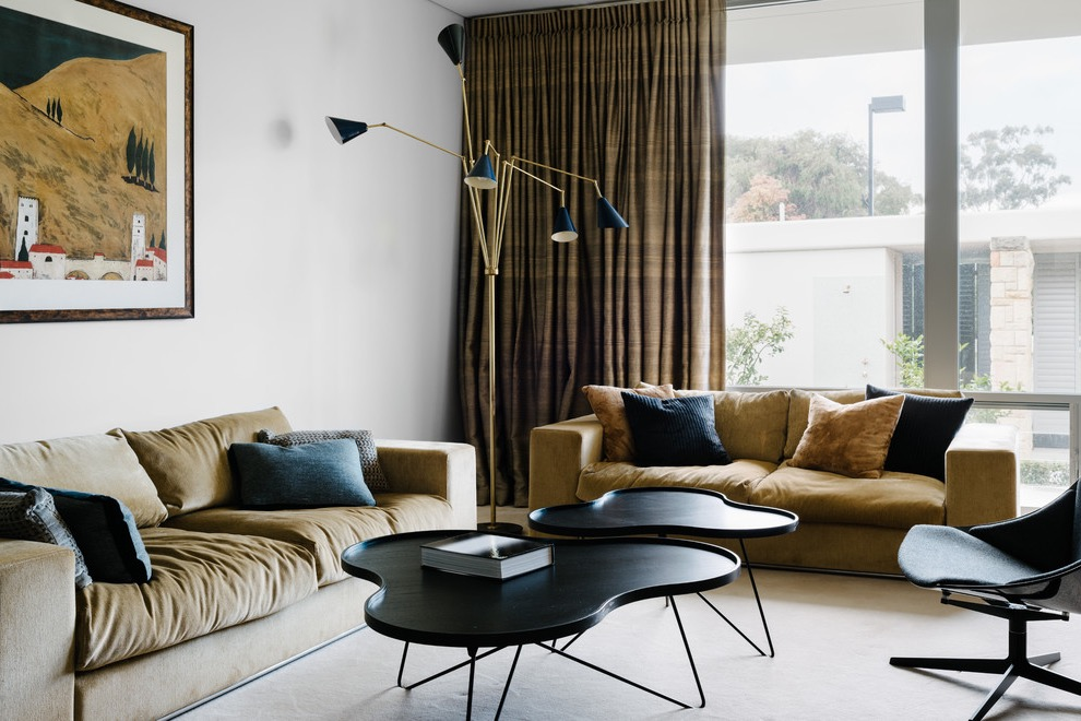 Sophisticated And Comfortable Living Room Midcentury Style (View 23 of 27)
