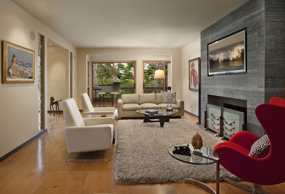 Sophisticated And Cozy Living Room For Large Interior In Modern Design (View 25 of 27)