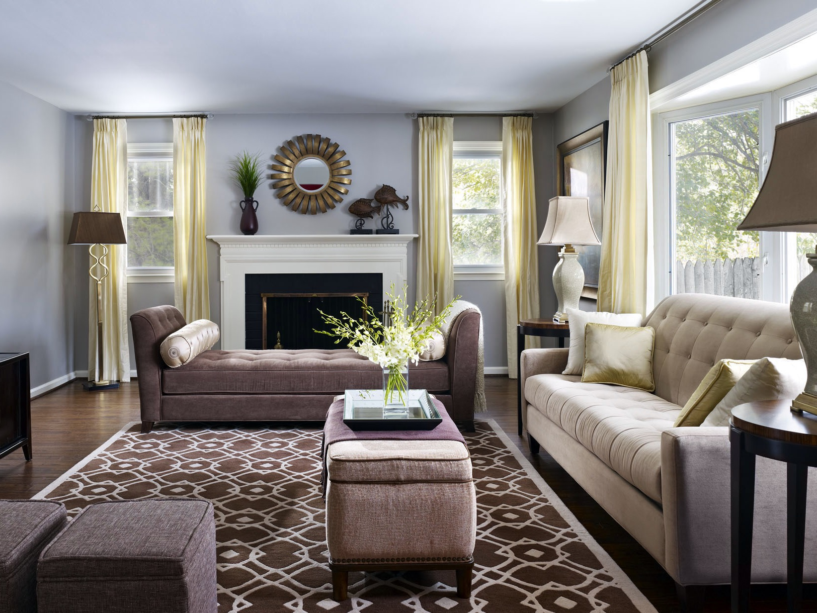 Sophisticated Neutral Furnishing For Classic Living Room  (Image 18 of 24)