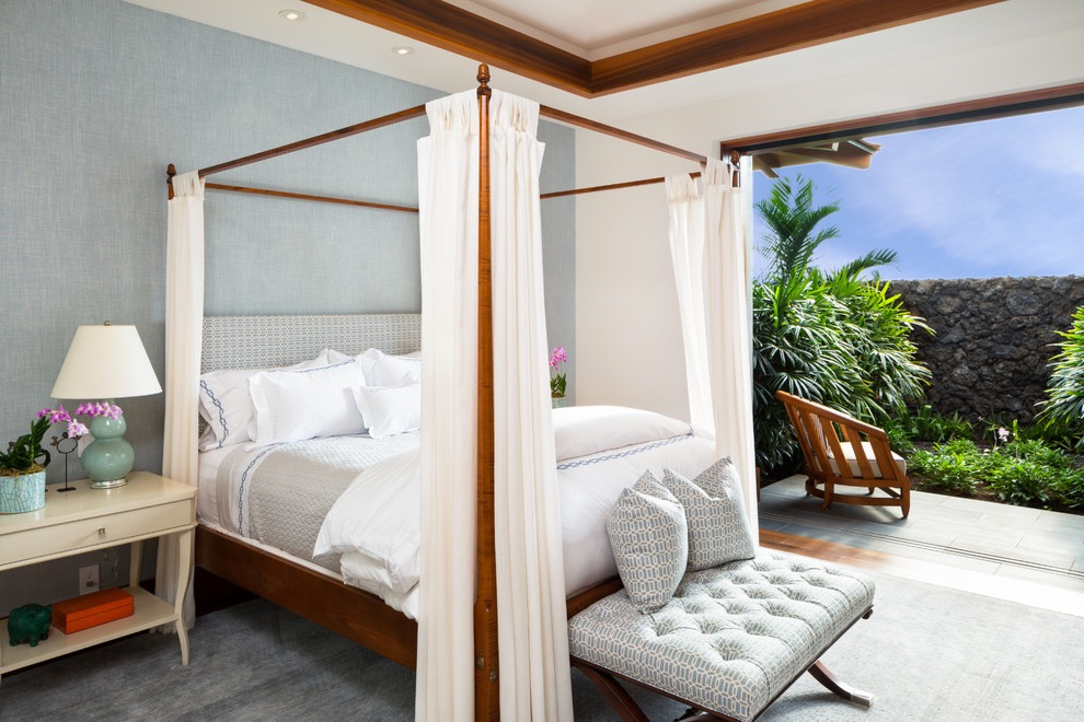 Spa Like Tropical Bedroom Design (Image 21 of 25)