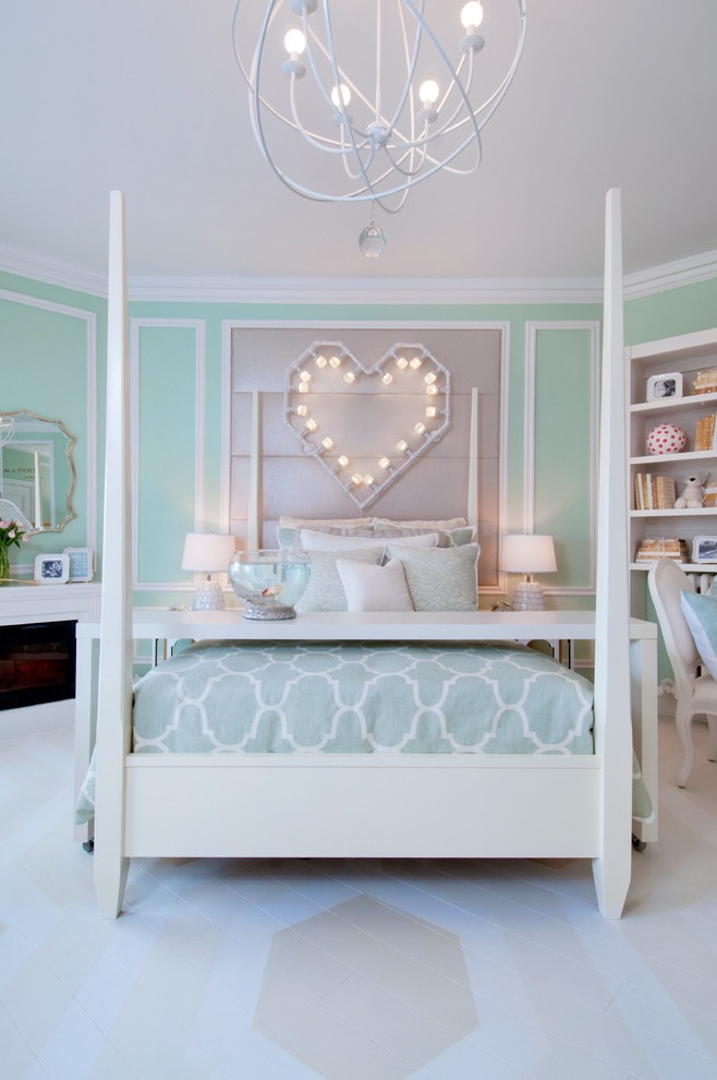 Teen Girls Bedroom With Creative Decorative Lighting (Image 25 of 30)