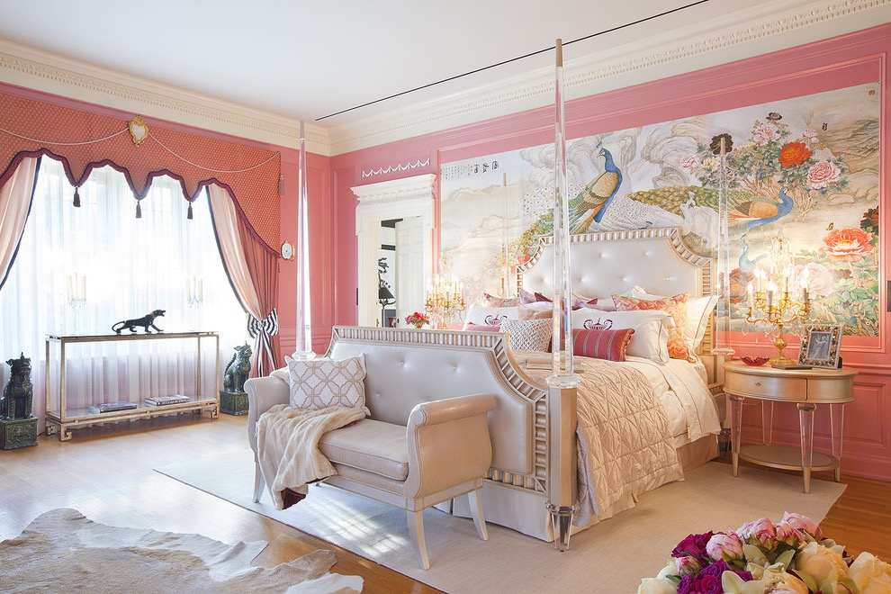 Victorian Girls Bedroom In Pink Color Theme (Image 17 of 19)