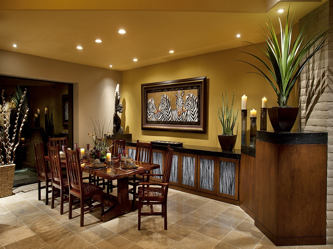 African Themed Dining Room Interior Image 6 Of 10