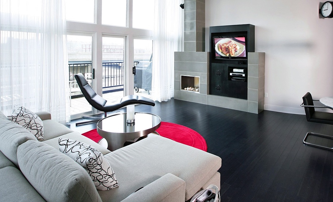 Black Bamboo Floors For Modern Living Room Apartment (Image 4 of 20)