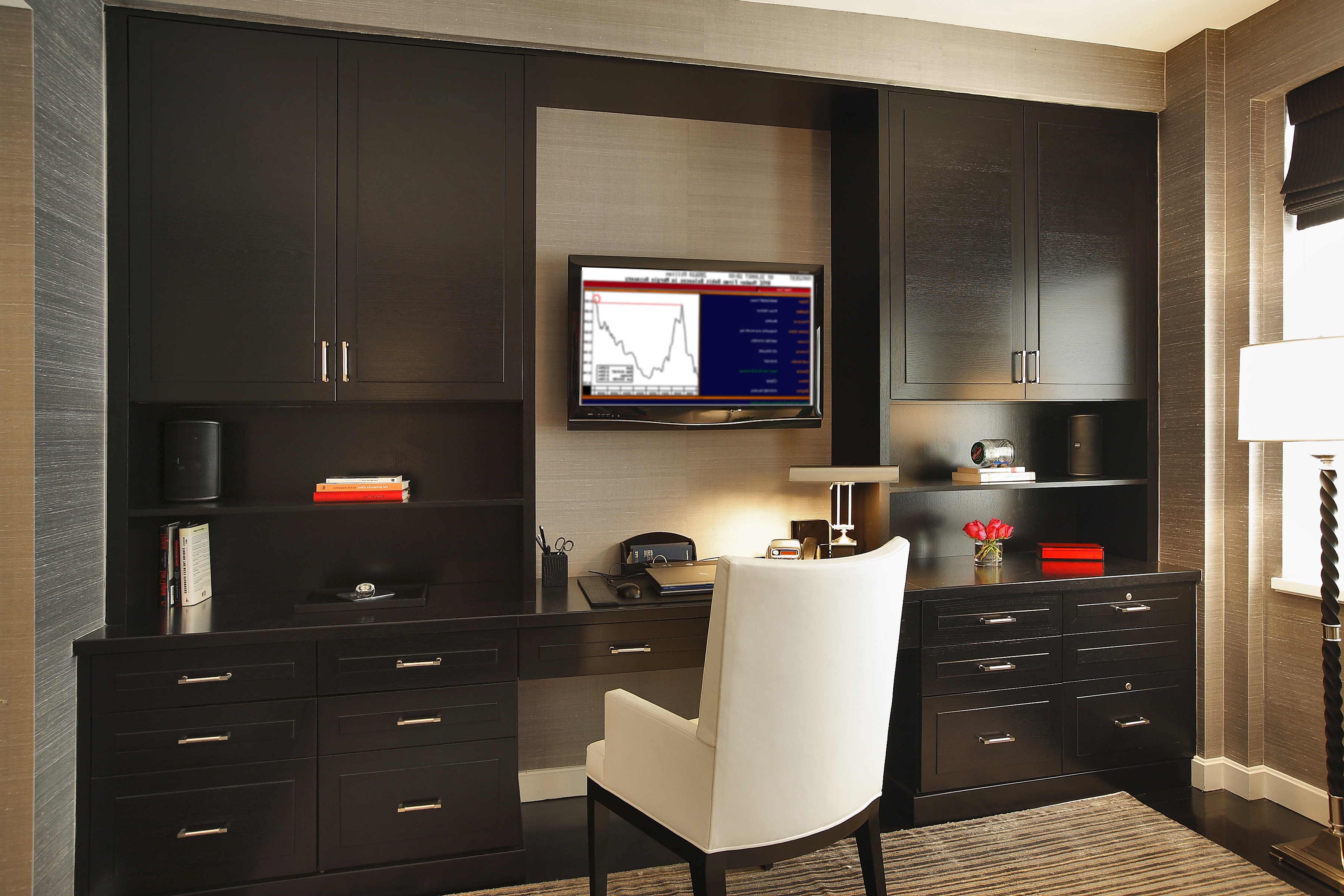 Built Ins In Contemporary Home Office (View 14 of 50)