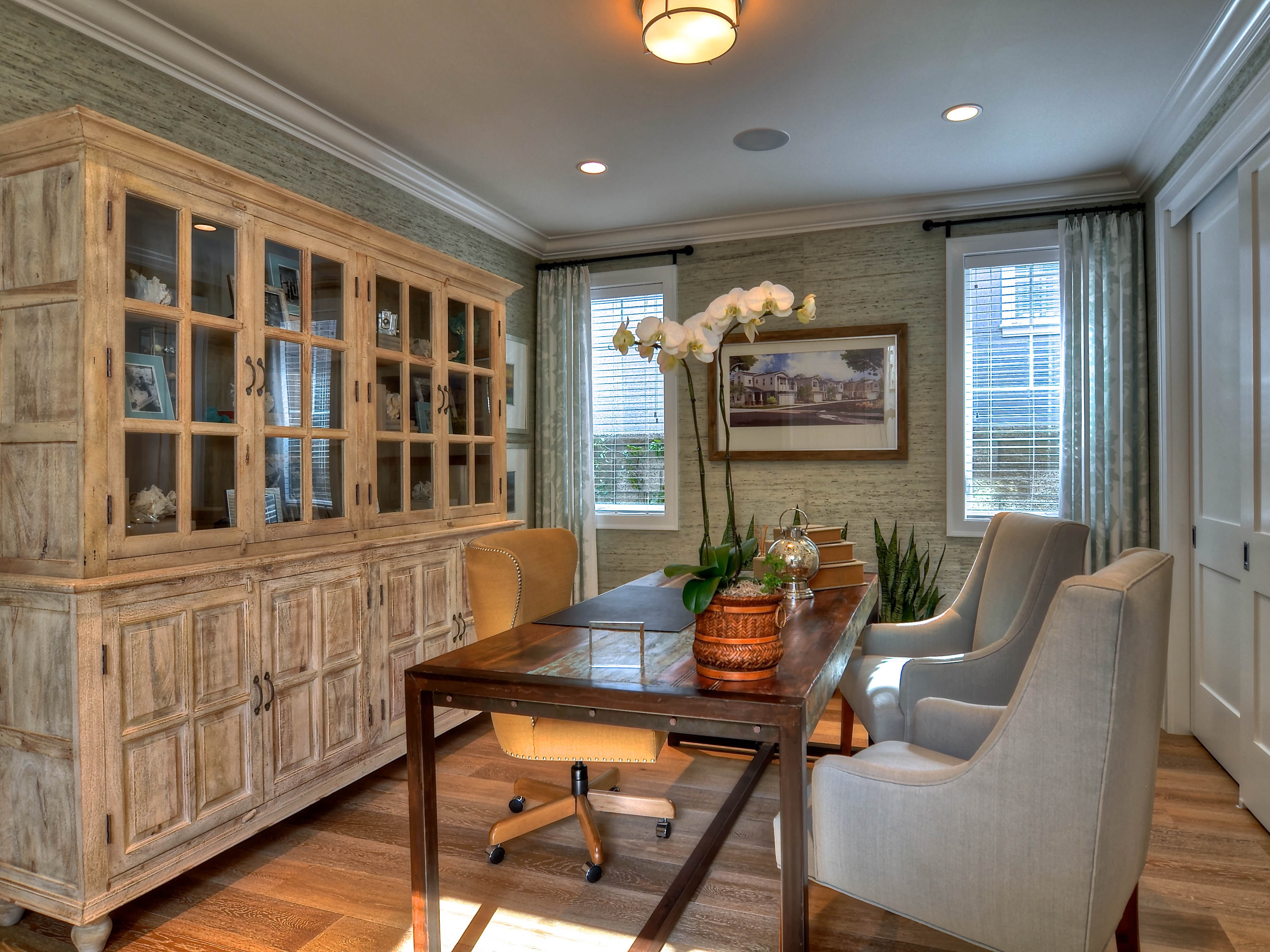 Coastal Inspired Home Office (Image 5 of 50)