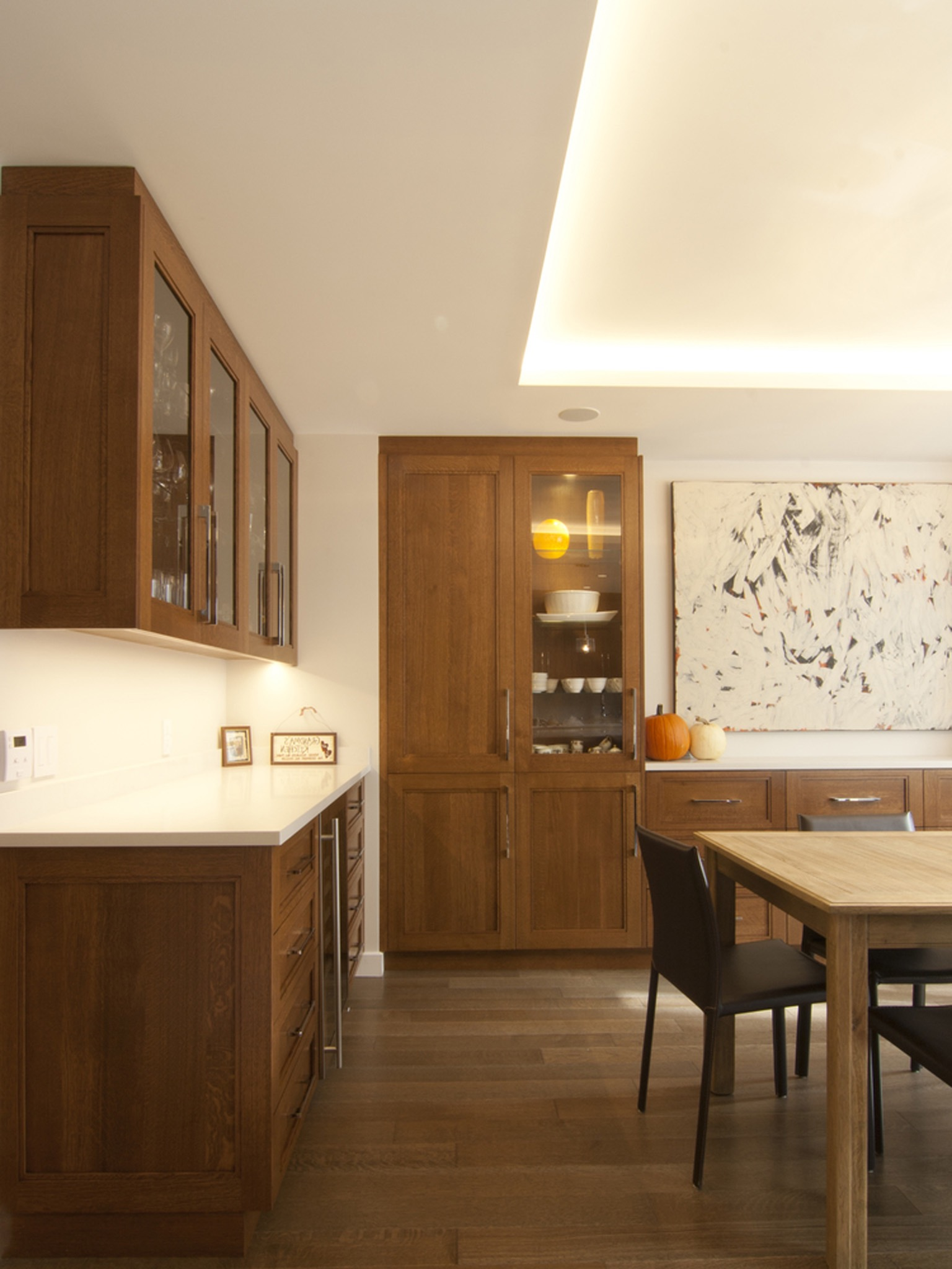 Contemporary Dining Room With Ample Storage (Image 9 of 25)