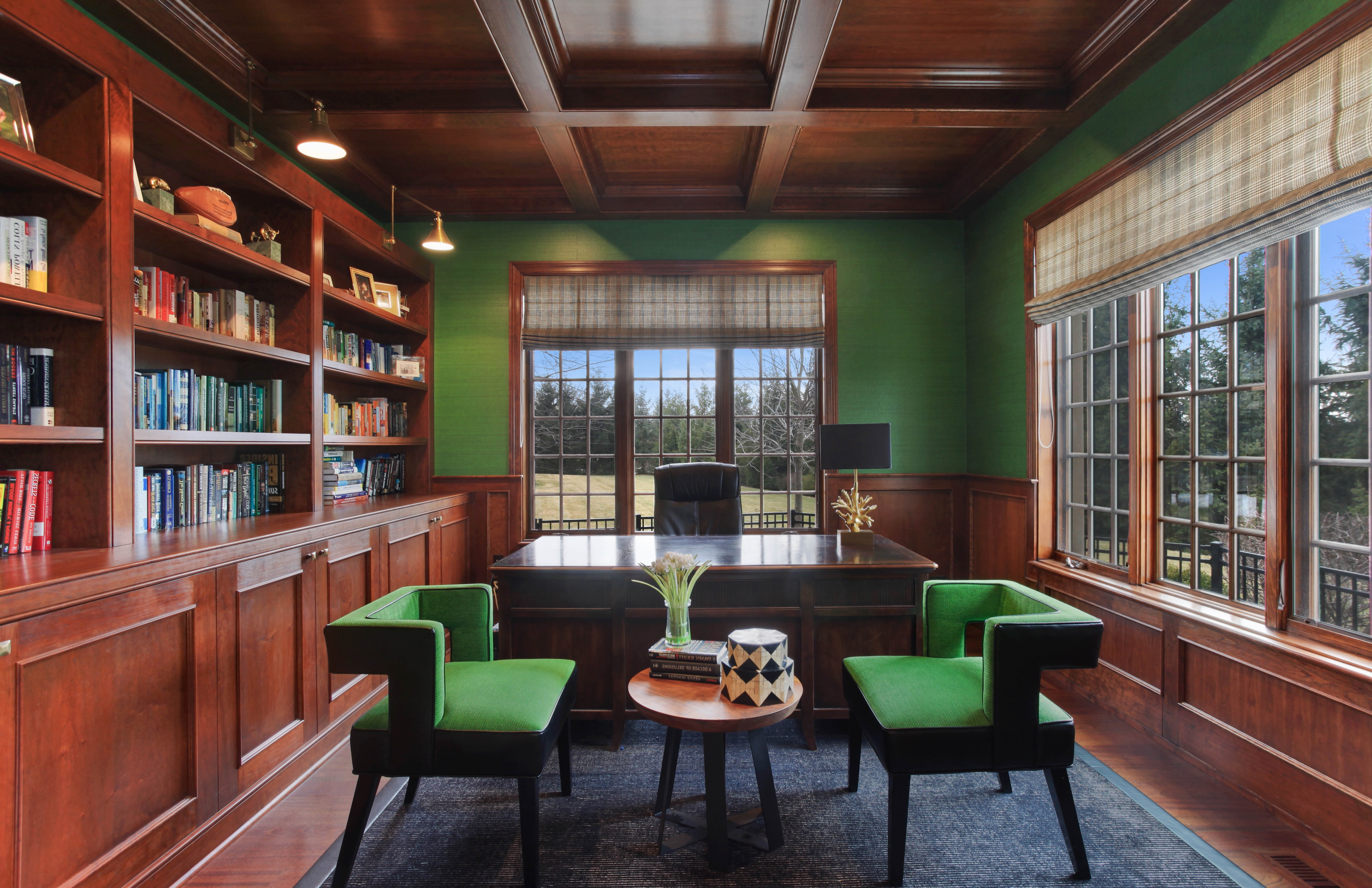 Contemporary Home Office With Chairs And Coffee Table (Image 8 of 50)