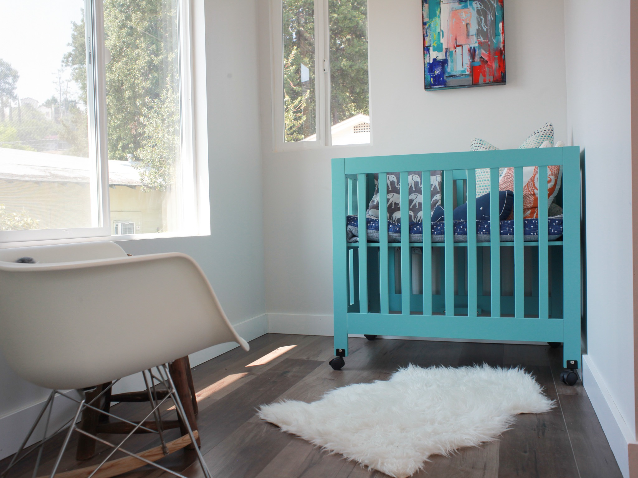 Contemporary Minimalist Nursery Baby Room Decor (Image 10 of 33)