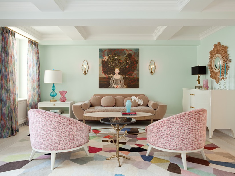 Cozy Pastel Color Palette For Classic Living Room Decoration (Image 7 of 20)