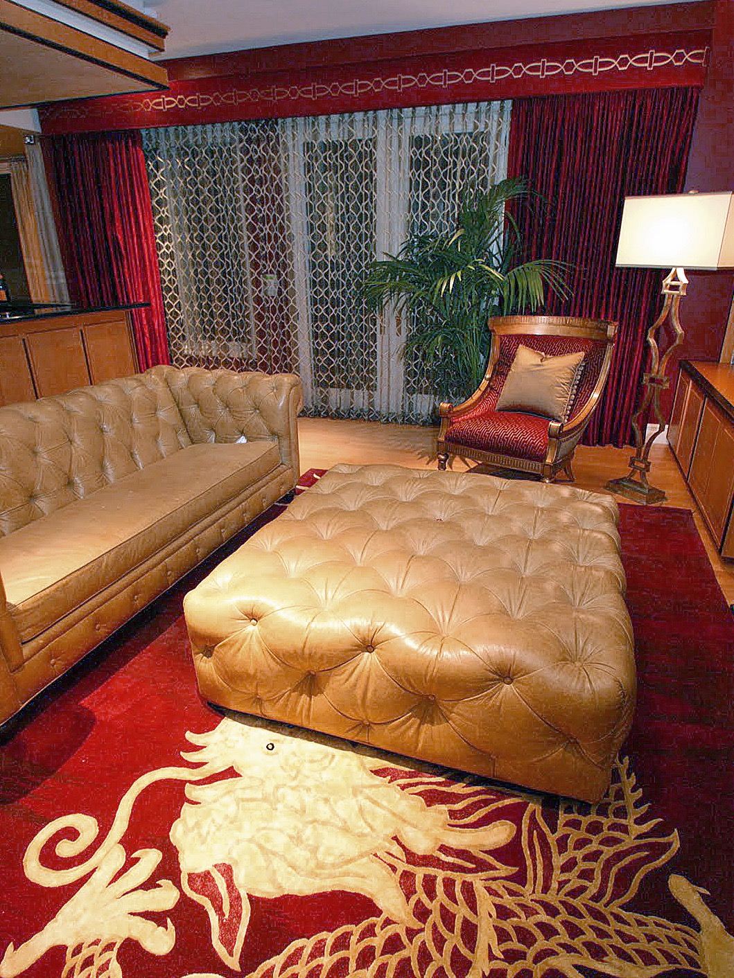 Dramatic Oriental Asian Inspired Living Room (Image 7 of 20)