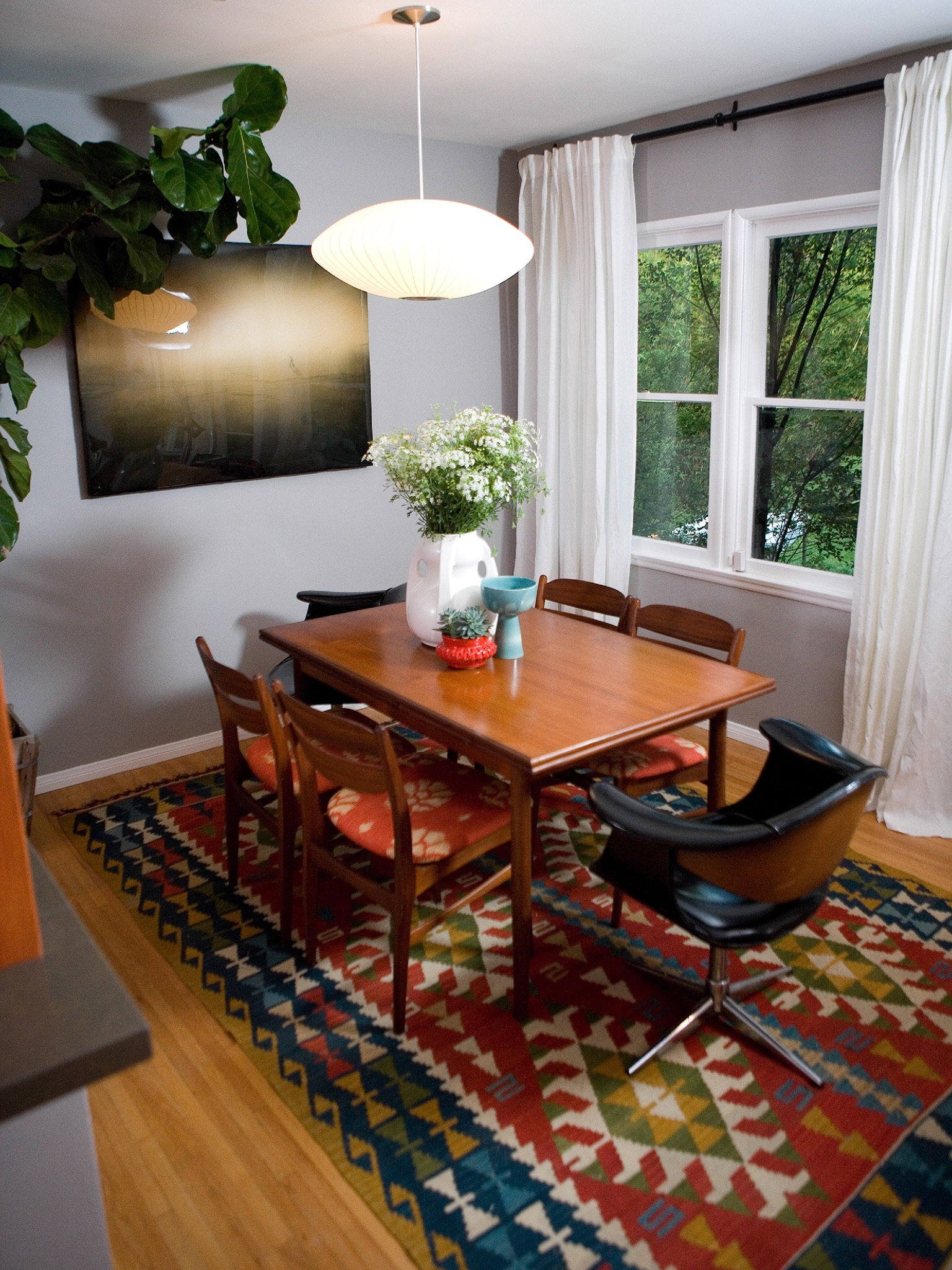 Eclectic Gray Dining Room (Photo 15 of 32)