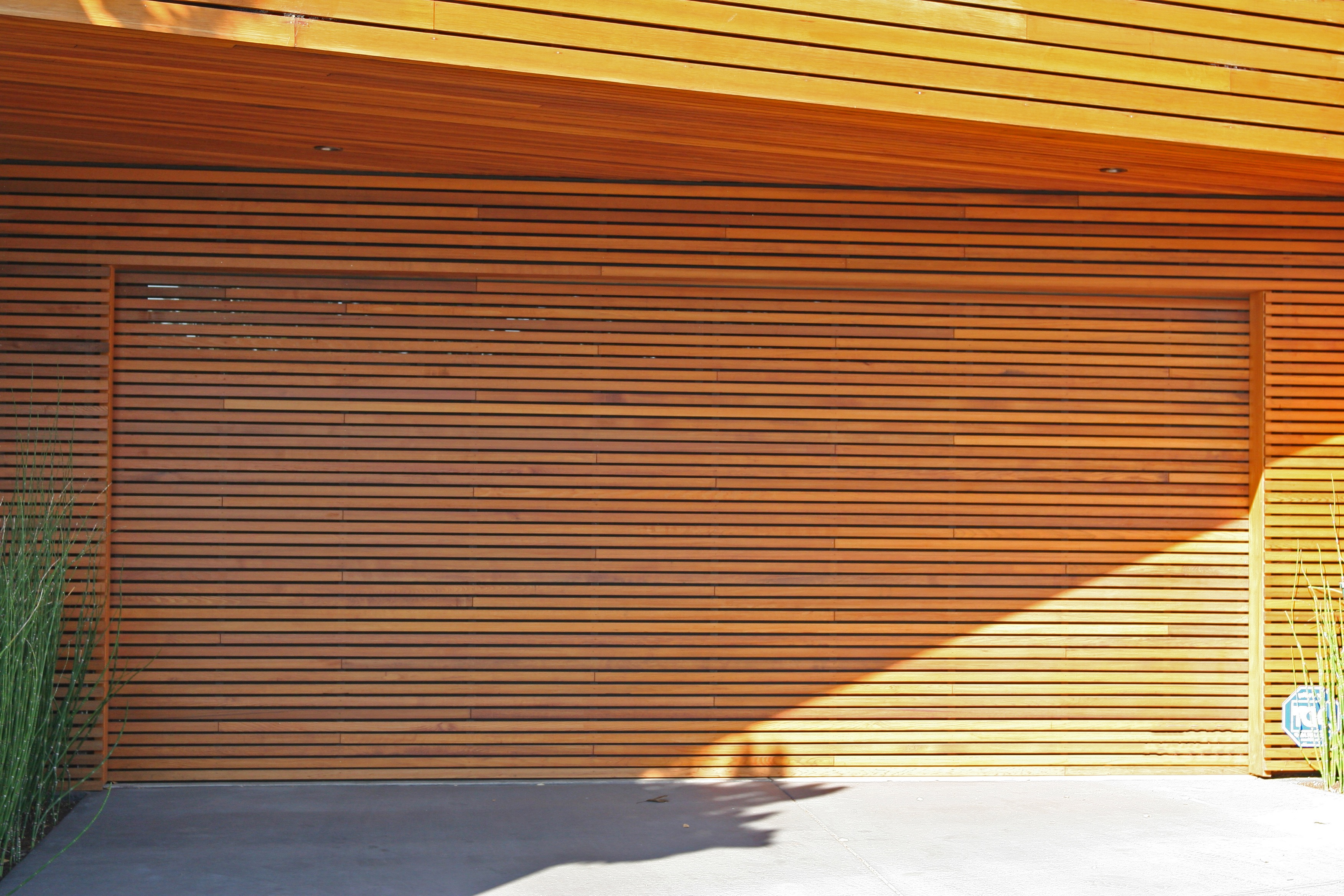 Exterior Facade Of A Cedar Garage Door (Image 15 of 38)