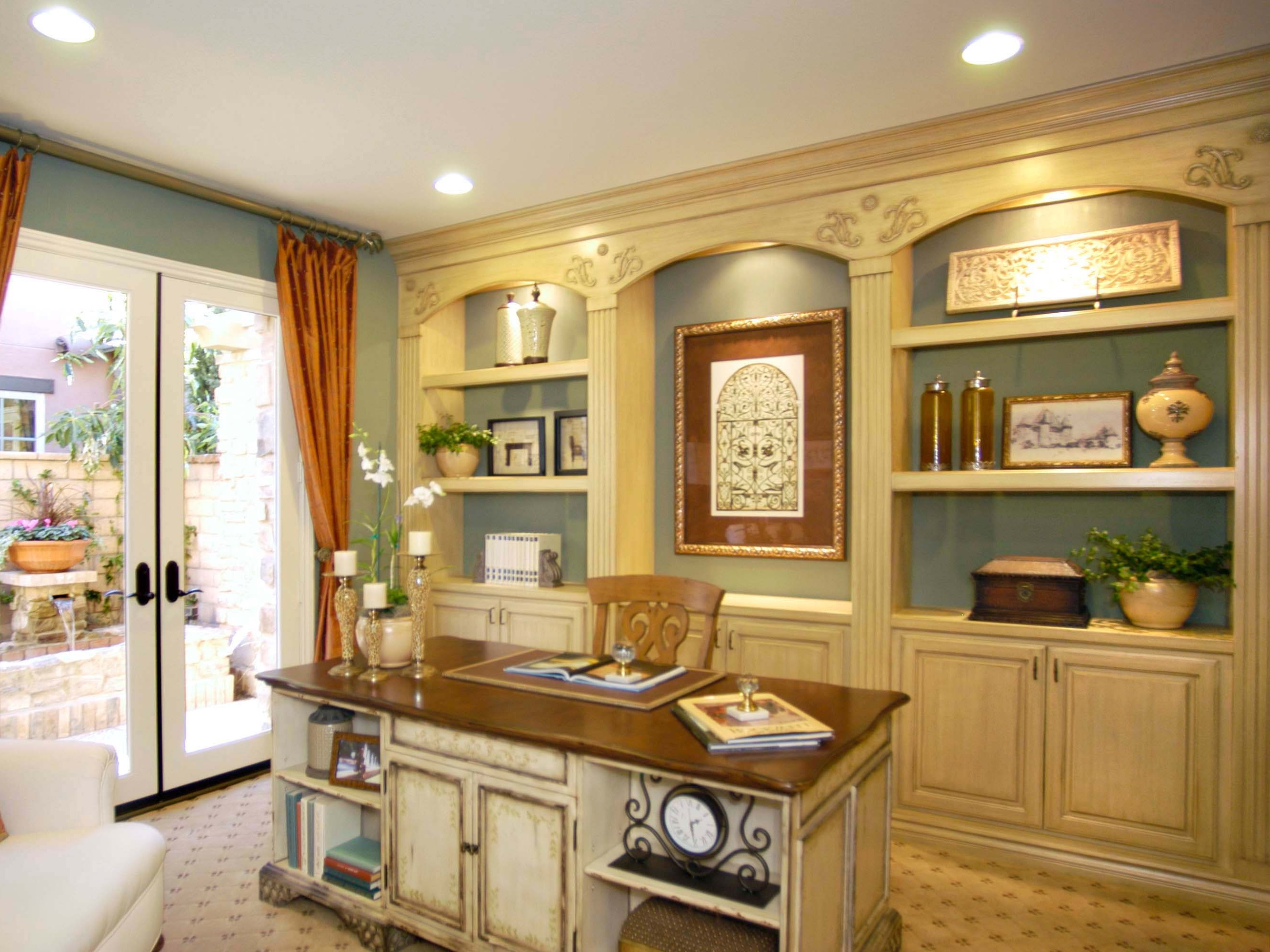 French Country Home Office (Image 22 of 50)