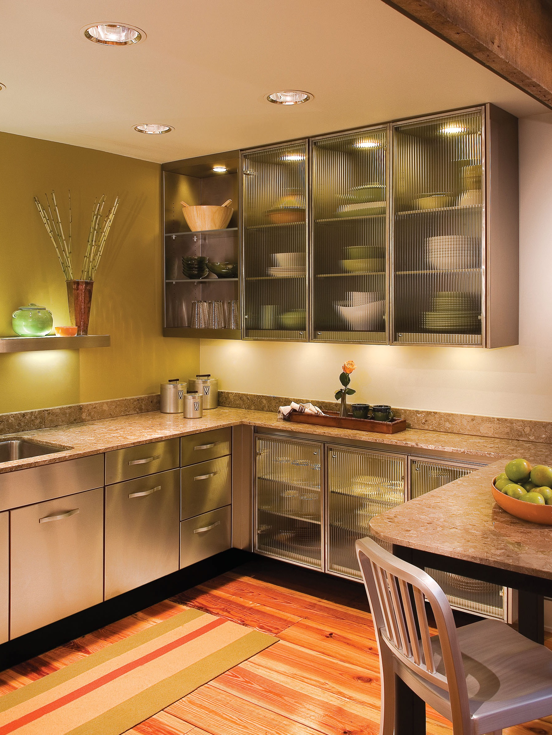 Frosted Glass Cabinet For Modern Kitchen (Photo 1 of 18)