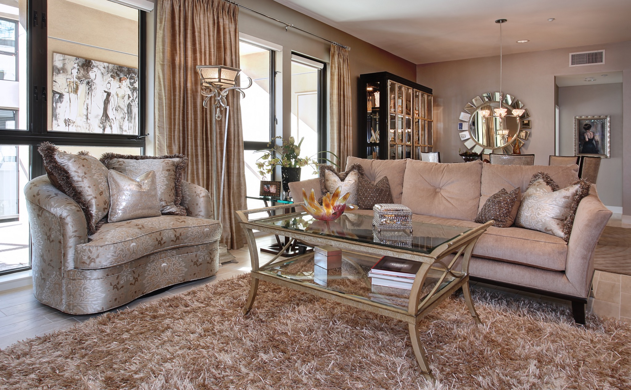 Glamorous Living Room With Feminine Look (Image 10 of 32)