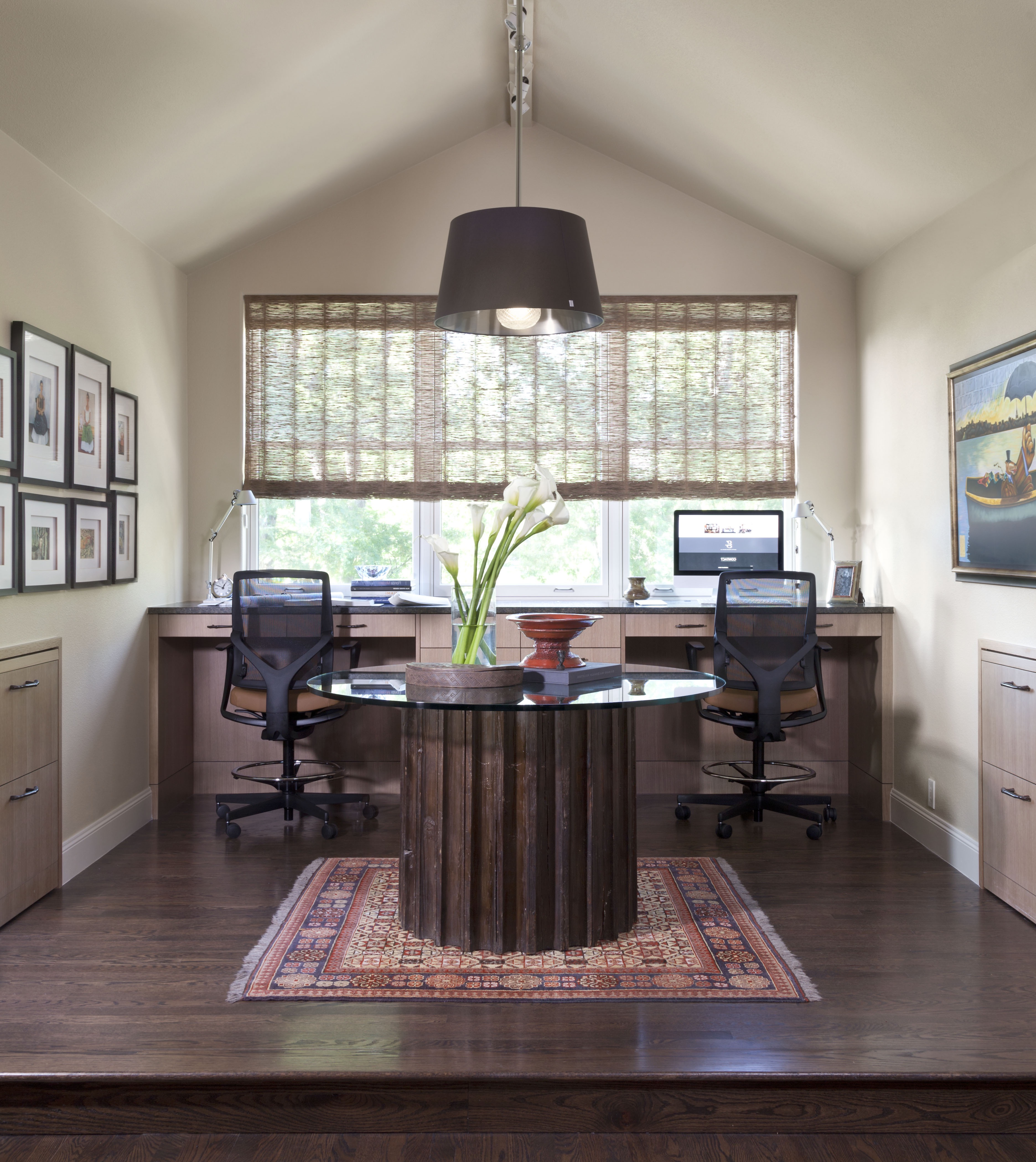 Home Office With Vaulted Ceiling (Image 25 of 50)