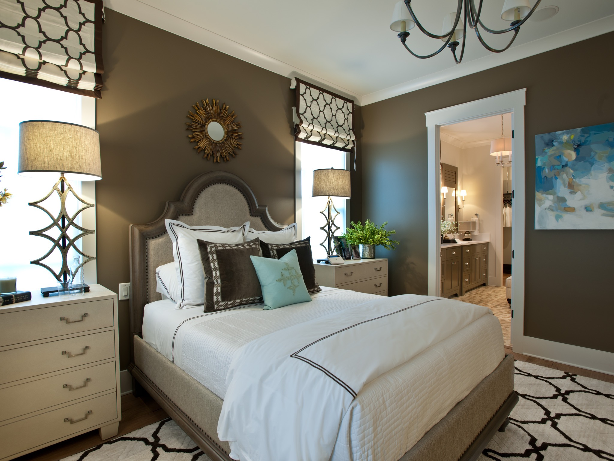 Master Bedroom With Italian Satin Stitch Bedding (Image 7 of 12)