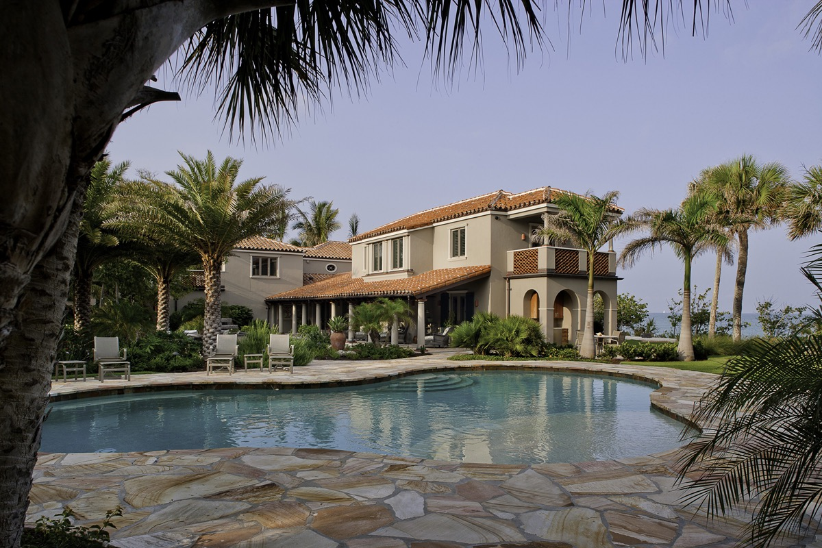 Mediterranean Architecture Home Exterior And Pool (Image 16 of 30)