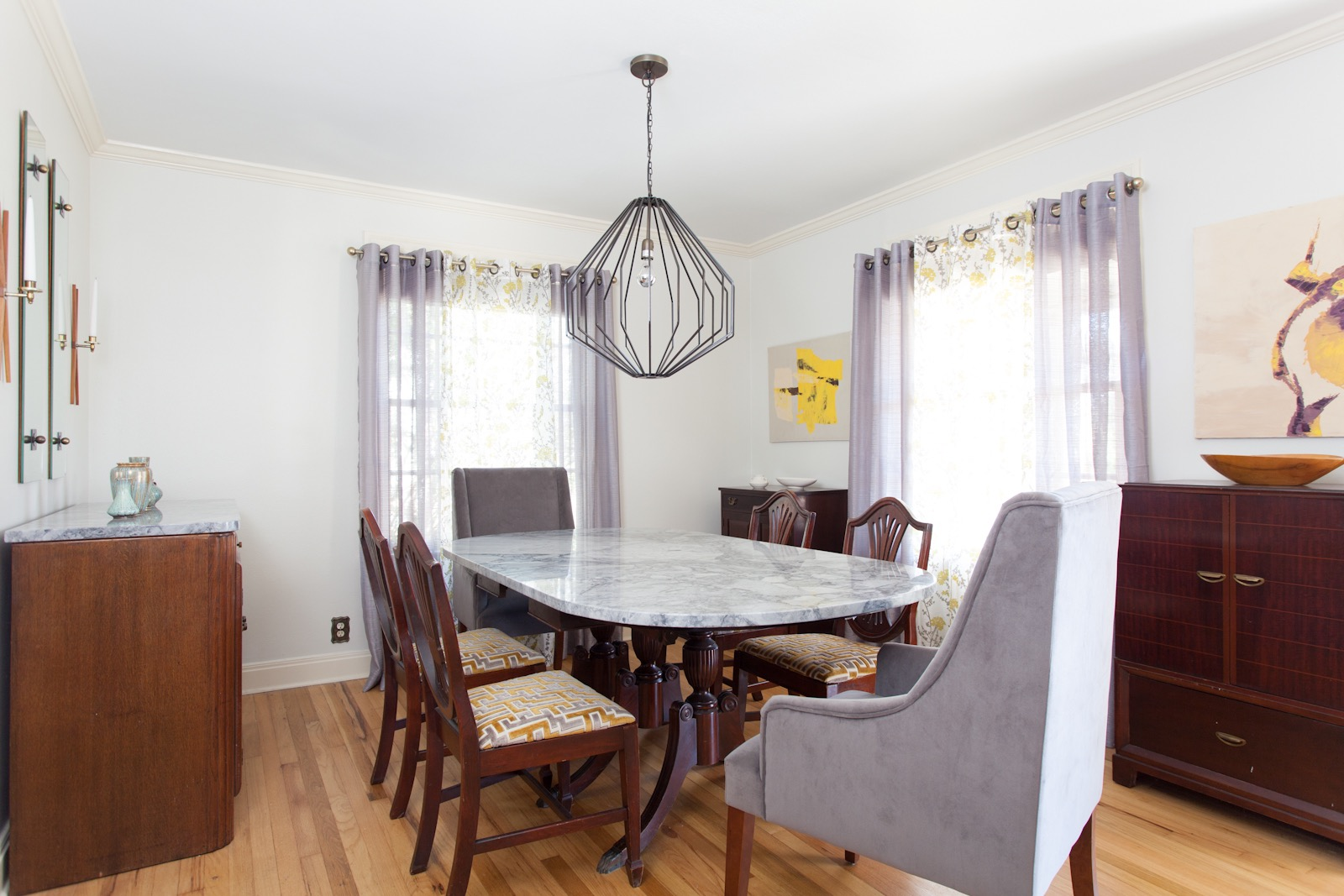 Mix Of Old Classic And New In Midcentury Modern Dining Room (Image 13 of 30)