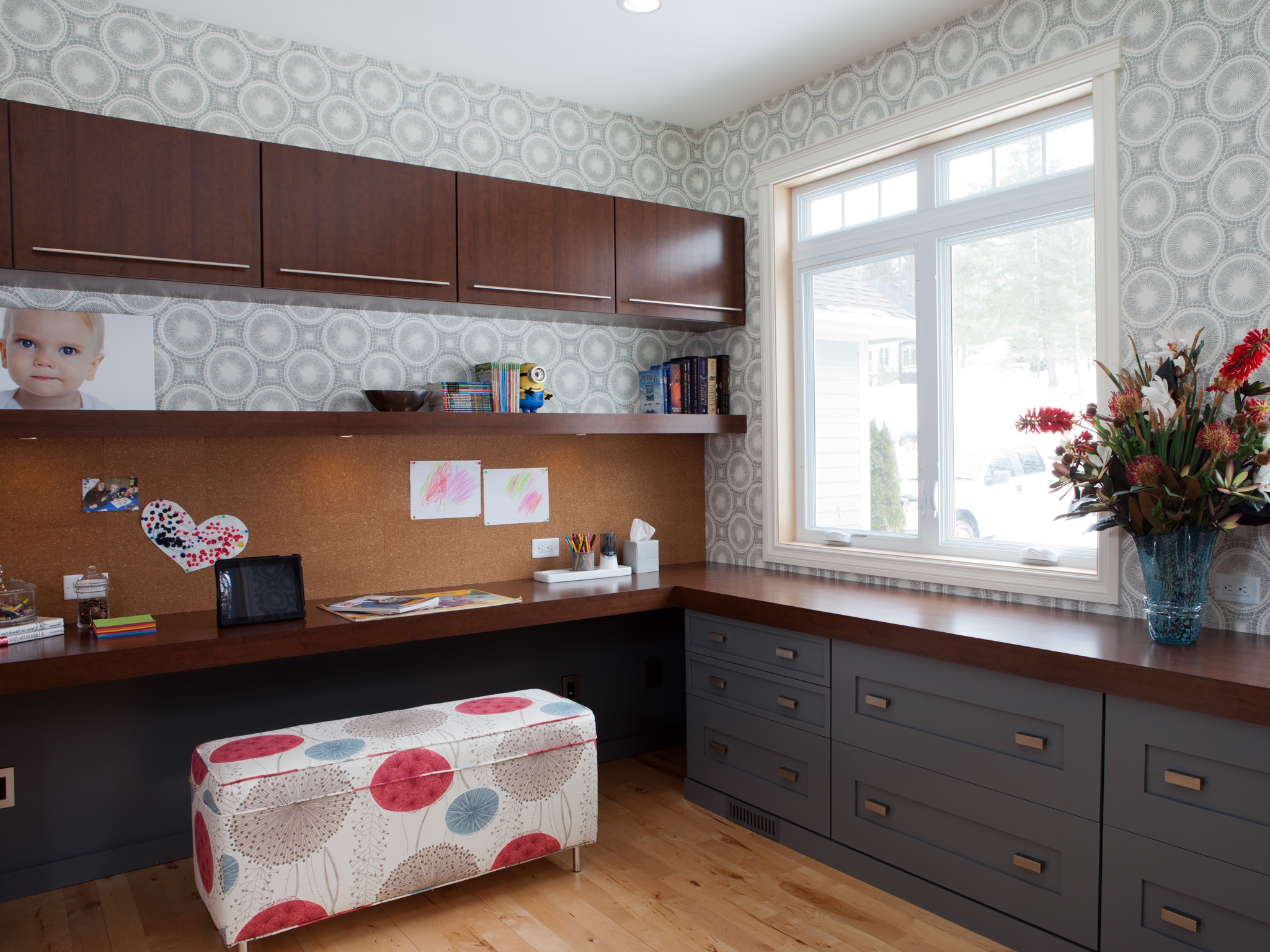 Modern Home Office With Floating Cabinets (Image 34 of 50)