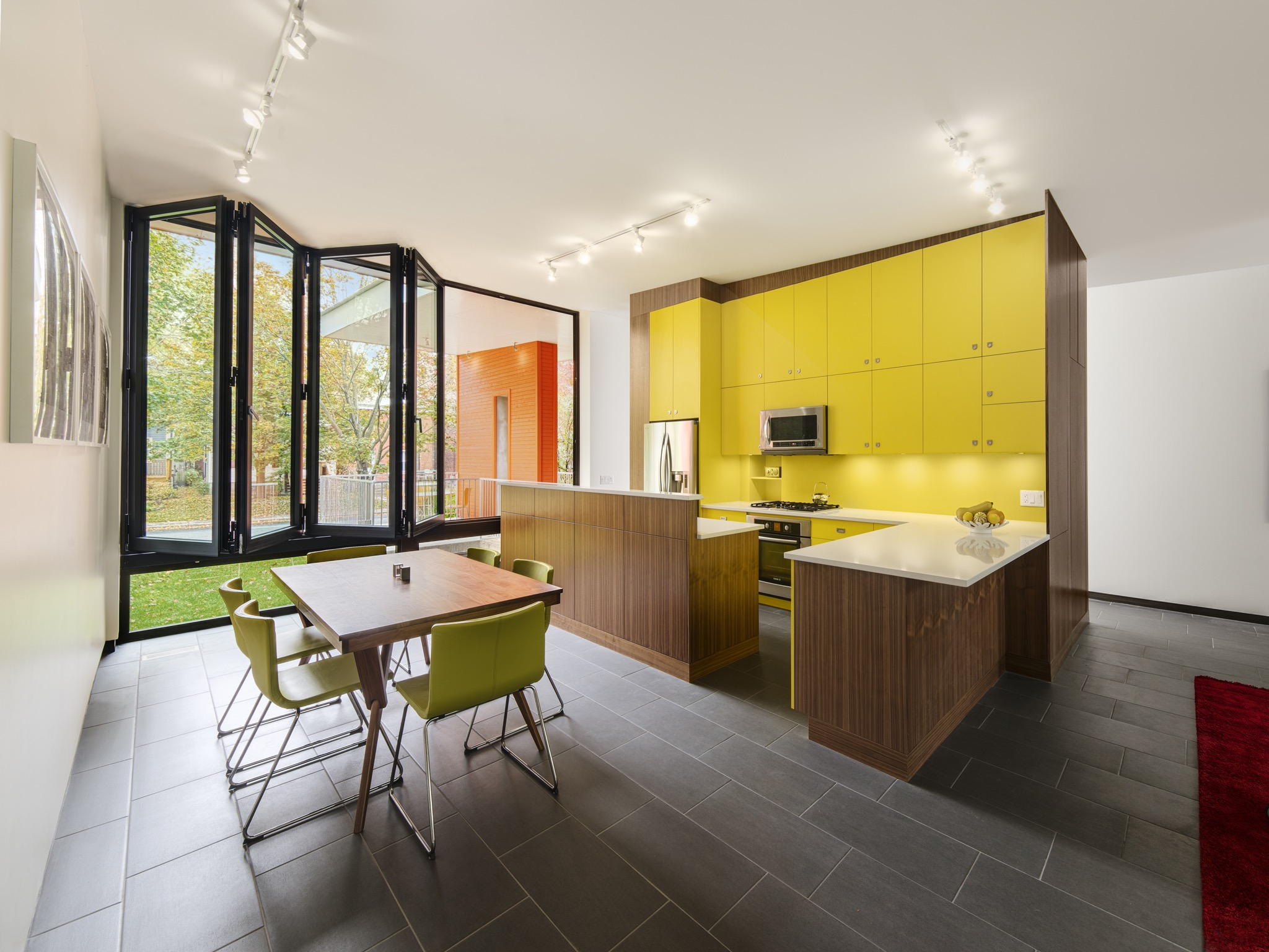 Modern Kitchen With Yellow Lacquered Cabinets (Image 12 of 18)