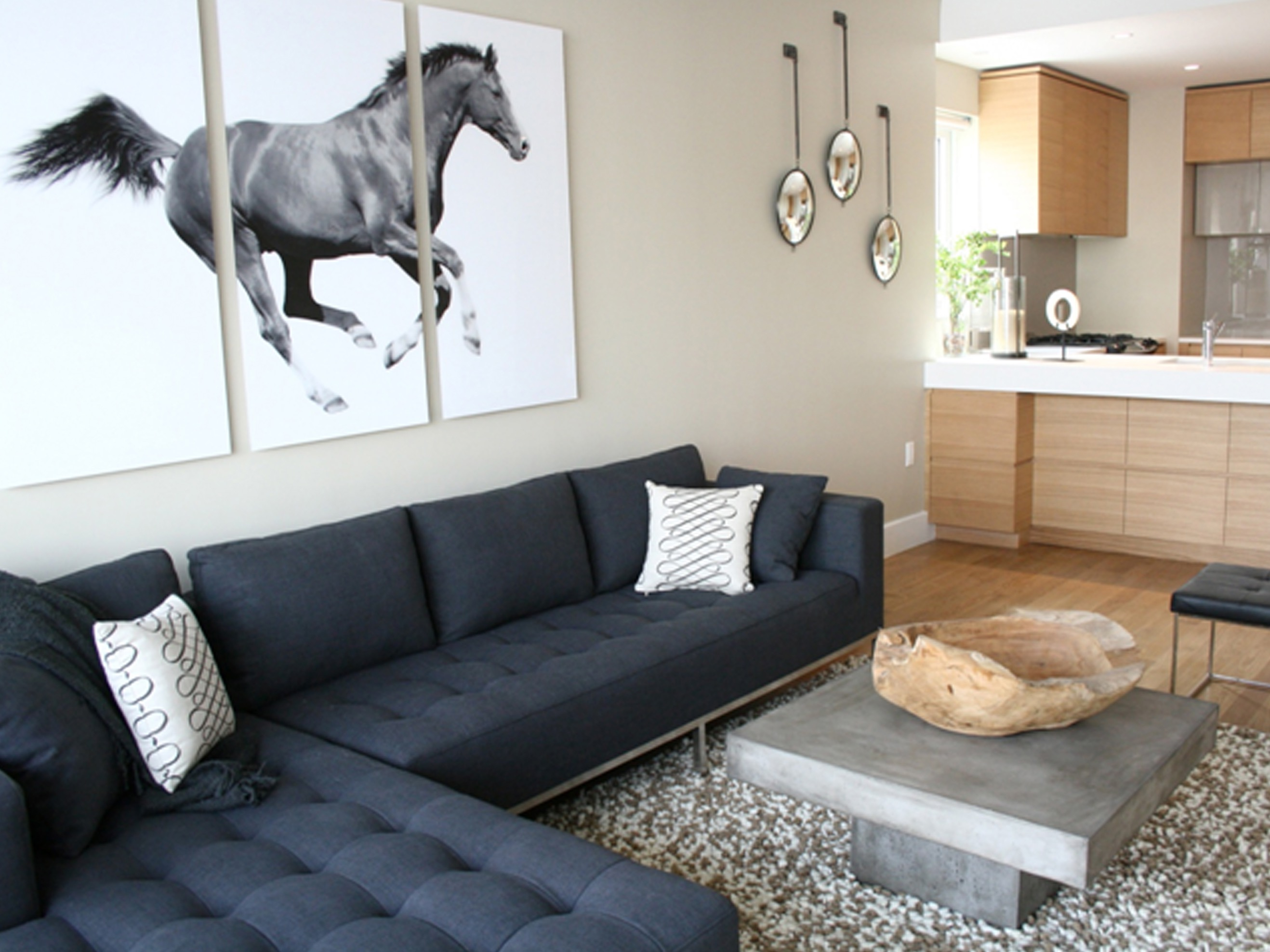 Modern Living Room With Over Sized Wall Art Decor (Image 19 of 30)