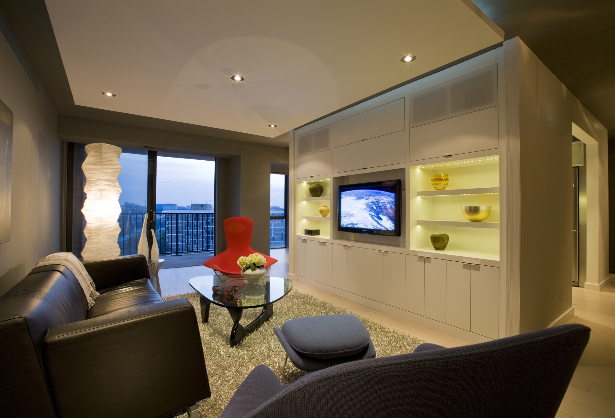 Modern Living Room And Cozy Entertainment Center (Image 11 of 15)