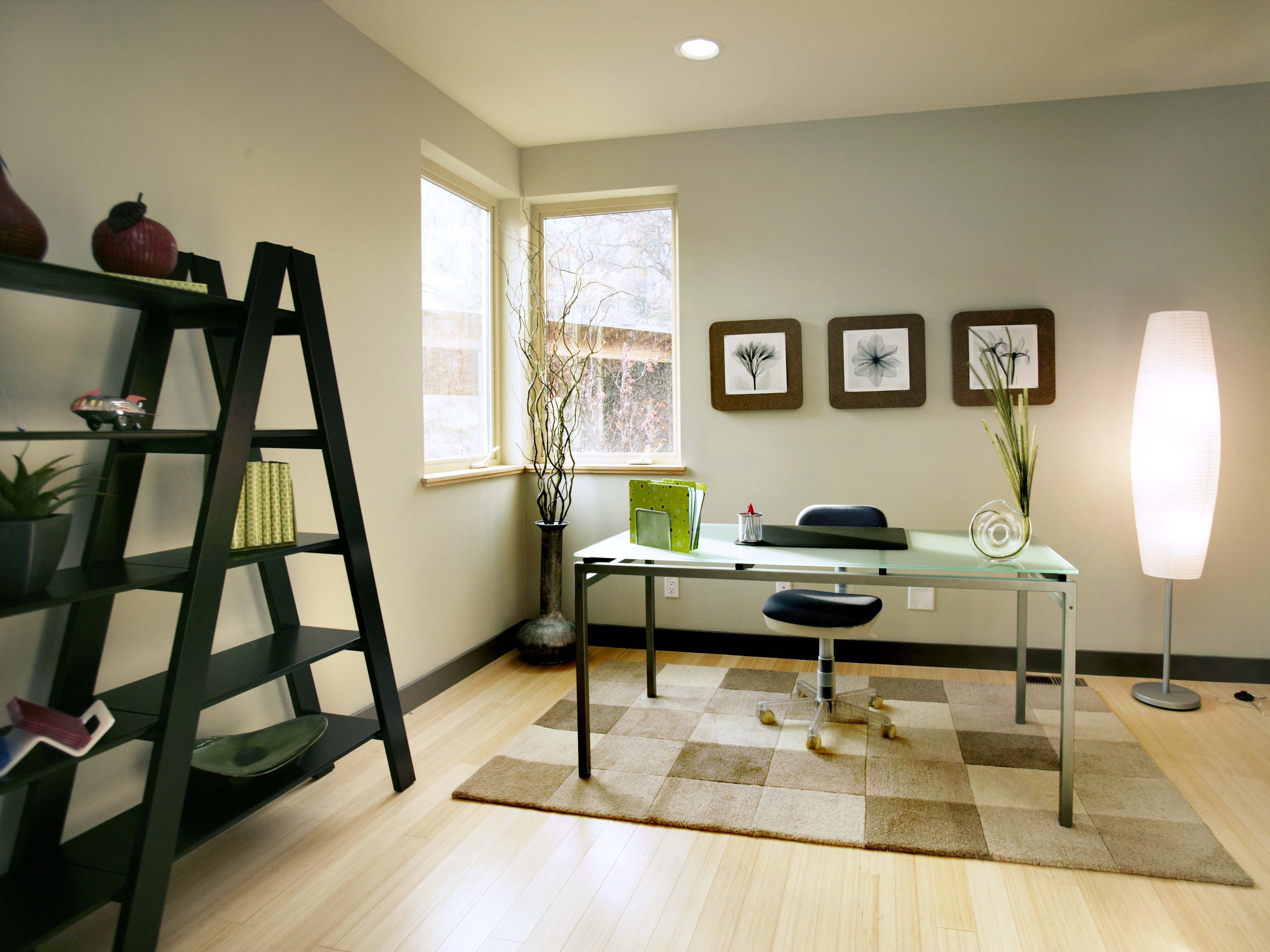 Modern Minimalist Apartment Home Office (Image 37 of 50)