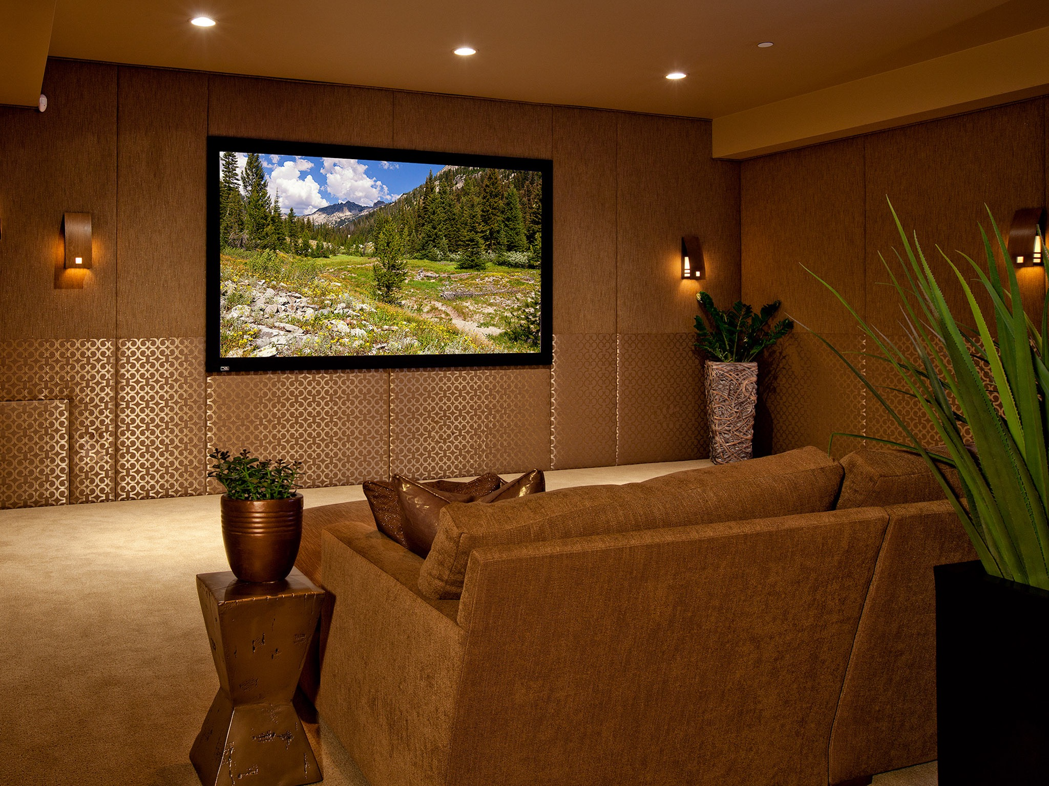 Modern Minimalist Home Theater Entertainment Room (Image 12 of 15)