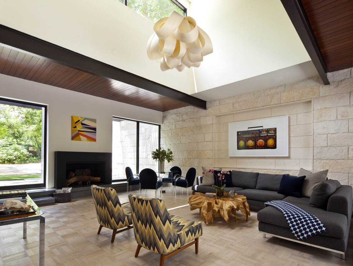 Modern Open Ceiling With Skylight Windows For Living Room (View 30 of 31)