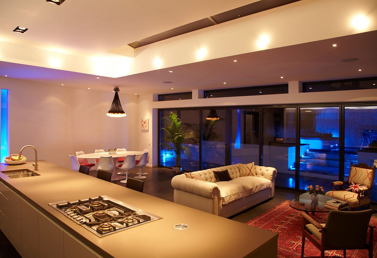 Nice Lighting Living Room And Kitchen (Image 22 of 31)