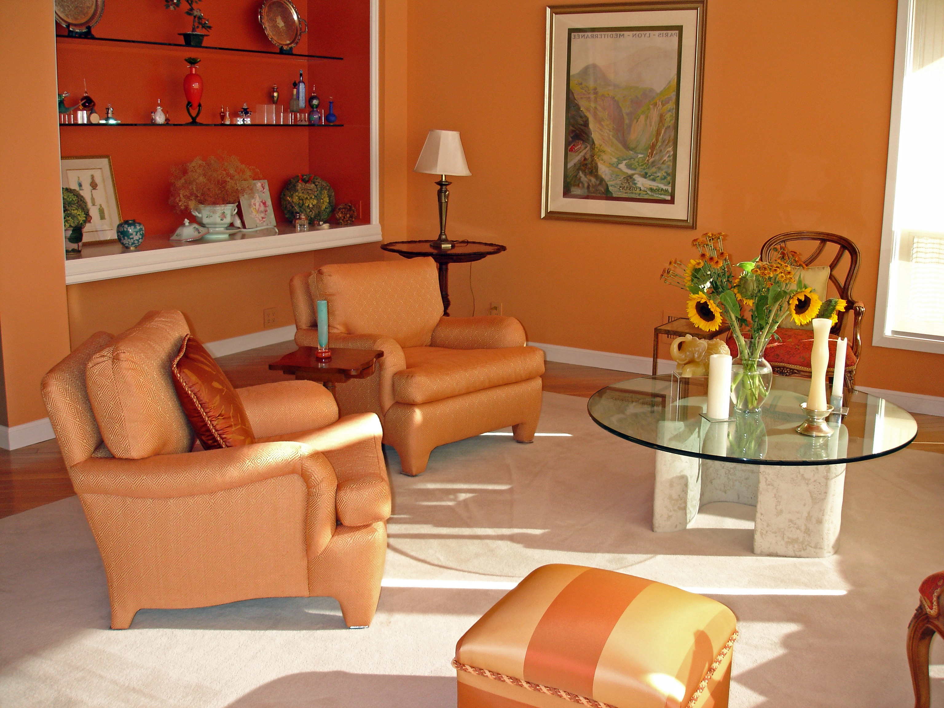 Orange Contemporary Living Room Color Scheme (Image 15 of 20)