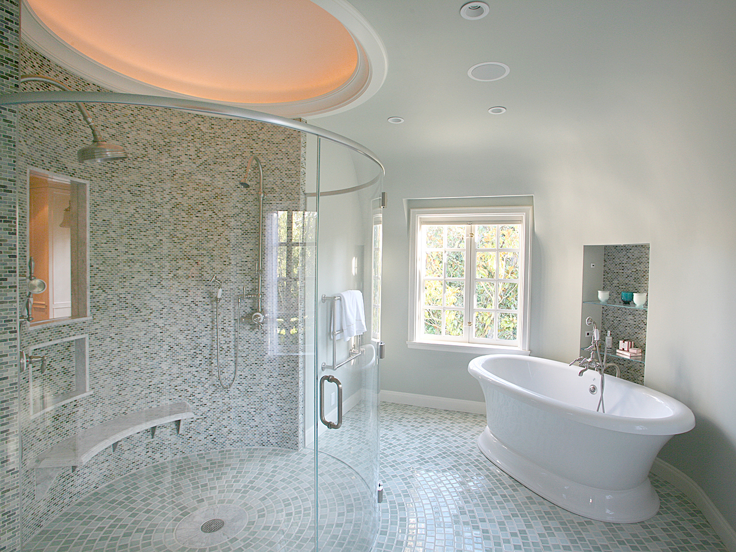 Round Bathroom With Oval Shaped Shower (Image 21 of 25)
